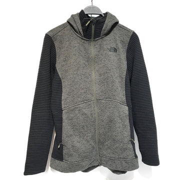 THE NORTH FACE/RIBBED SLEEVES/Hoodie/L/GRN/Cotton/Plain