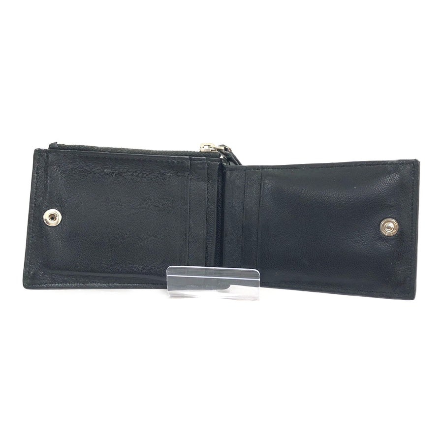 #BALENCIAGA/Bifold Wallet/Leather/BLK
