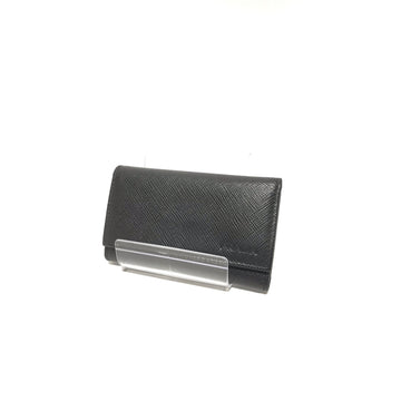 #PRADA/Saffiano/Key Case/Leather/BLK/Plain