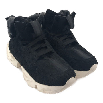UNRAVEL PROJECT//Hi-Sneakers/US9.5/BLK/Suede/Plain