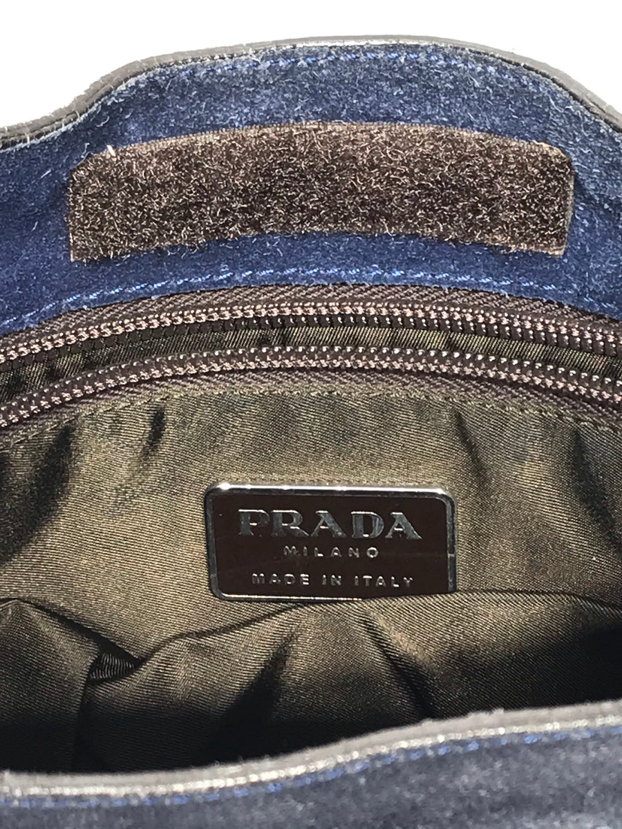 PRADACross Body Bag/Leather/NVY