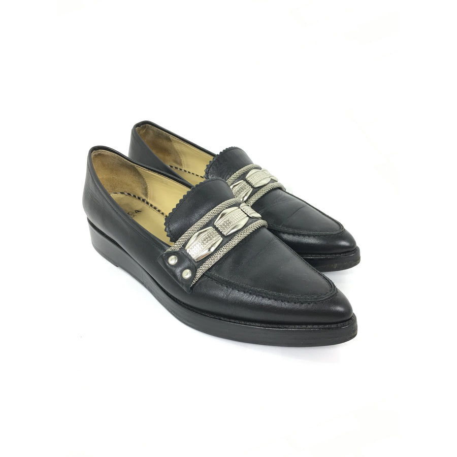 TOGA PULLA/Studs Loafers/38/BLK/Heels