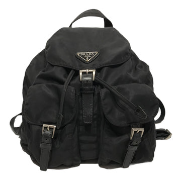 PRADA/SMALL BACKPACK/Backpack//BLK/Nylon/Plain
