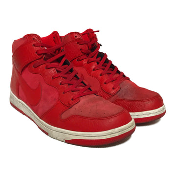 NIKE SB/DUNK CMFT PYTHON RED/Hi-Sneakers/US9/RED/Leather/Plain
