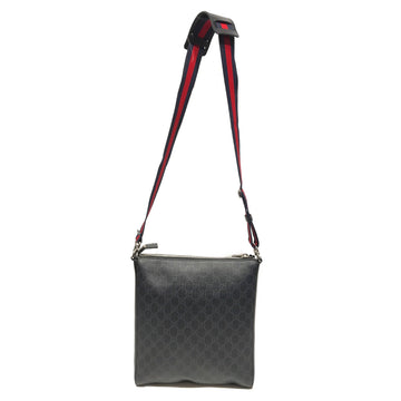 GUCCI/CROSS BODY BAG/Cross Body Bag//BLK/Leather/All Over Print