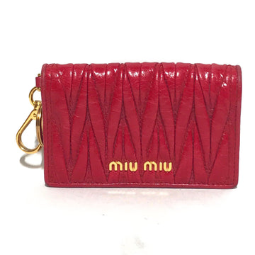 MIU MIU/LAYERS/Wallet/./PNK/Leather/Plain