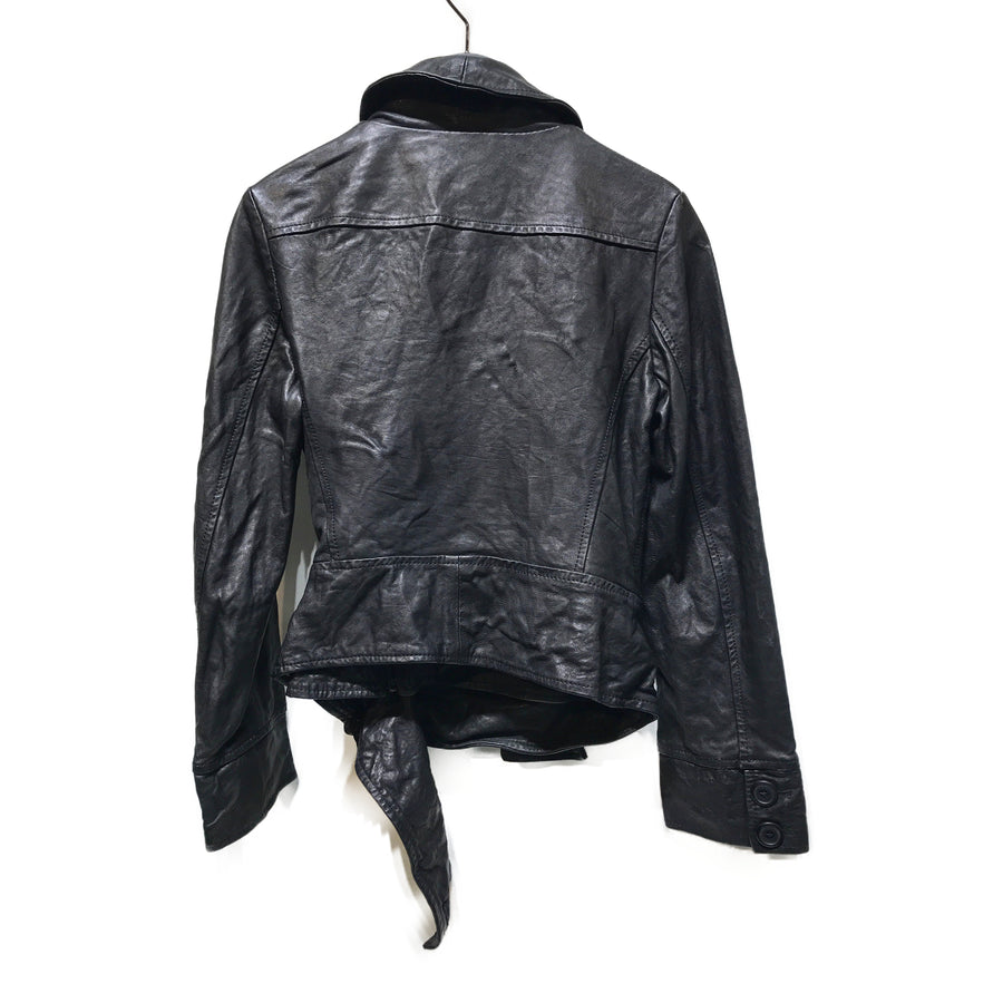 VIVIENNE WESTWOOD//Jacket/42/BLK/Leather/Plain