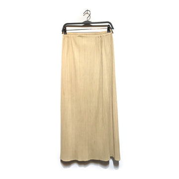 ISSEY MIYAKE/PLEATED SKIRT/Long Skirt/SM /GLD/Polyester/Plain