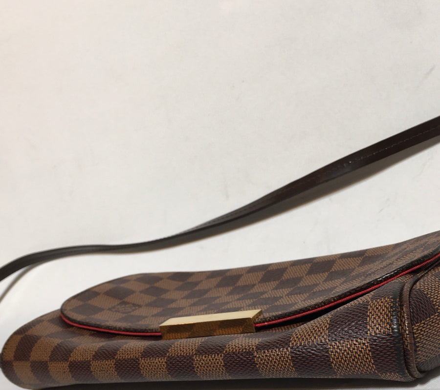 LOUIS VUITTON/DAMIER /Cross Body Bag//BRW/Leather/All Over Print