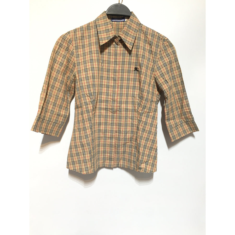 #BURBERRY BLUE LABEL/LS Shirt/38/Cotton/BEG/