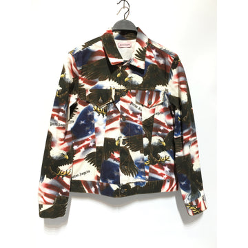 PALM ANGELS/M/Denim Jkt/MLT/Cotton/All Over Print