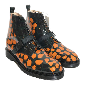 MARCELL VON BERLIN/Lace Up Boots/US12/MLT/Leather/Animal Pattern