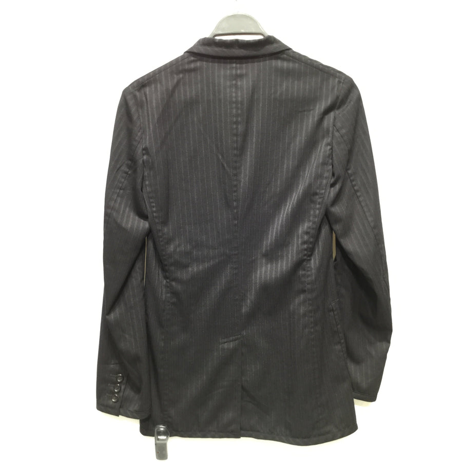 COMME des GARCONS HOMME PLUS/Tailored Jacket/XS/Wool/BLK/Striped/PM-J087/AD2013