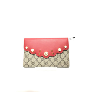 GUCCI//Clutch Bag/RED/Leather/Monogram