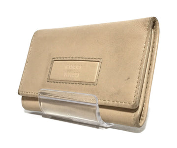 #GUCCI/Key Case/Leather/BEG/Plain