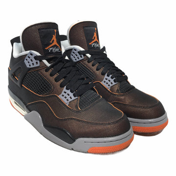 Jordan/JORDAN 4 STARFISH/Hi-Sneakers/10.5/BRW/Others/Plain