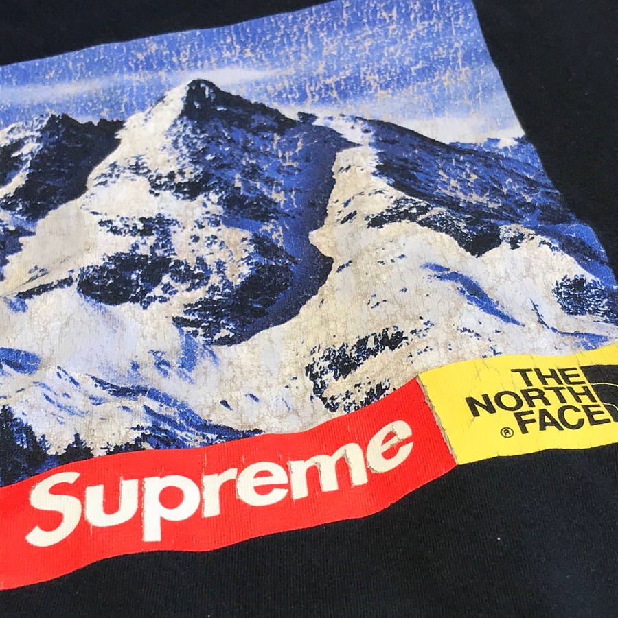 Supreme//T-Shirt/M/BLK/Cotton/Plain