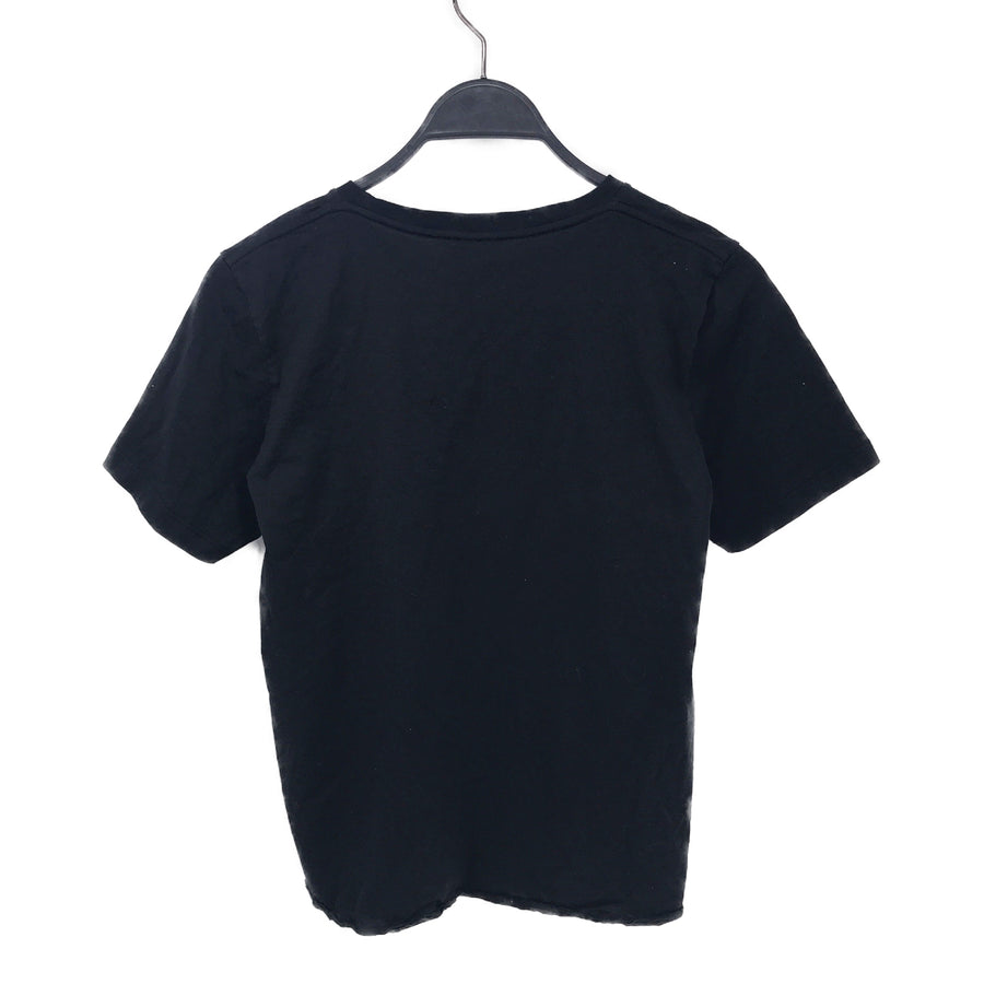 SAINT LAURENT//T-Shirt/M/BLK/Cotton/Plain