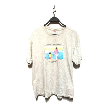 Supreme/HEAVEN AND EARTH/T-Shirt/MEDIUM/GRY/Cotton/Graphic