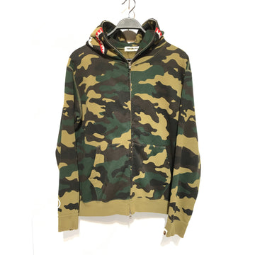 A BATHING APE/M/Zip Up Hoodie/GRN/Cotton/Camouflage