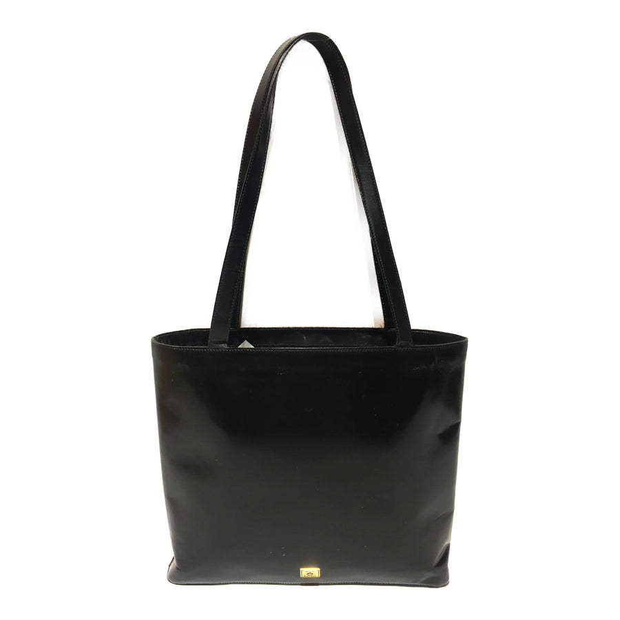 MOSCHINO/:)/Tote bag/YEL/Leather/Graphic