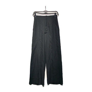 RICK OWENS DRKSHDW//Straight Pants/S/BLK/Wool/Plain