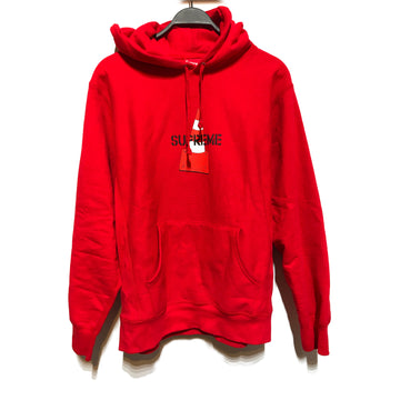 Supreme/TRAFFIC CONE/Hoodie/L/RED/Cotton/Graphic