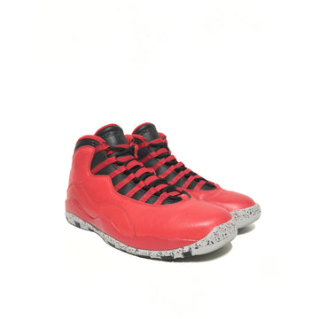 Jordan/10.5/Hi-Sneakers/RED/Leather/Plain