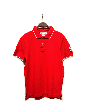 MONCLER//Polo Shirt/M/RED/Cotton/Plain