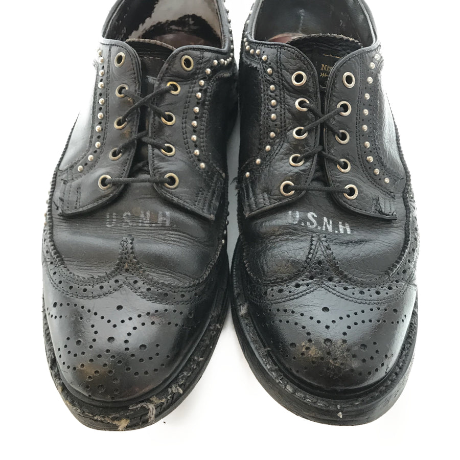 NEIGHBORHOOD/Dress Shoes/US7.5/BLK/Leather