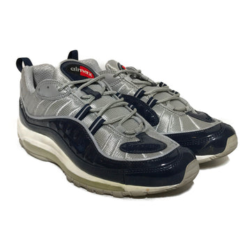 NIKE/SUPREME AIR MAX 98/Low-Sneakers/US9.5/NVY/Others/Plain