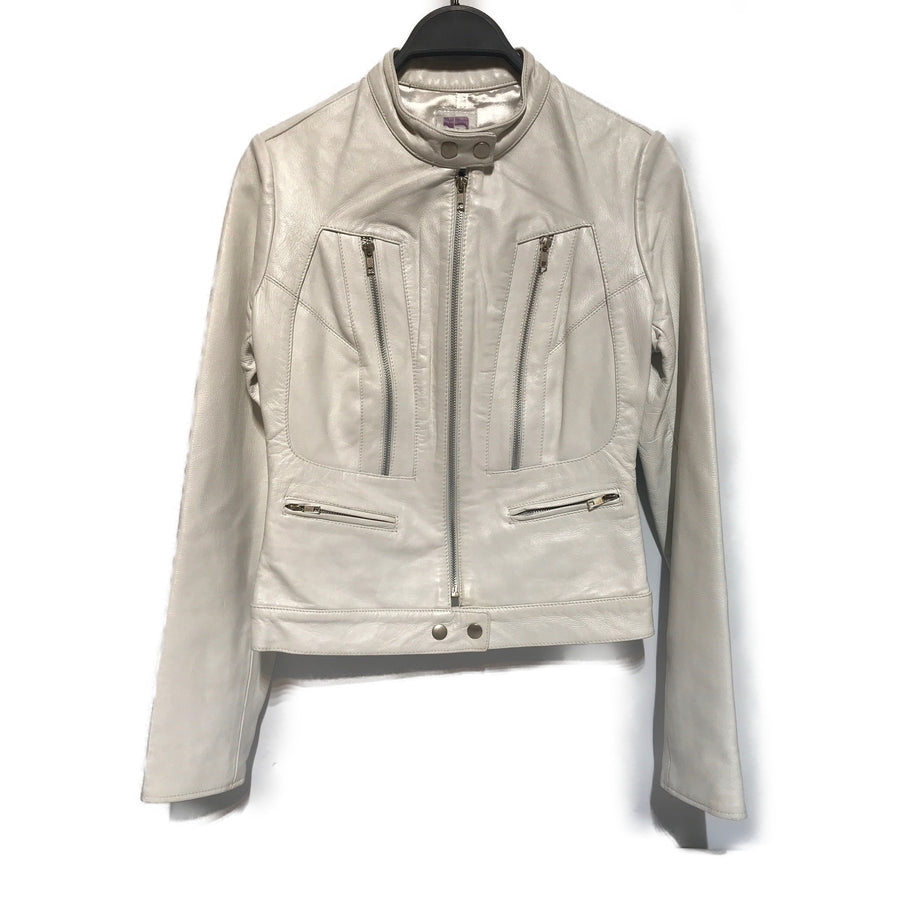 Joes Jeans//Leather Jkt/S/WHT/Leather/Plain
