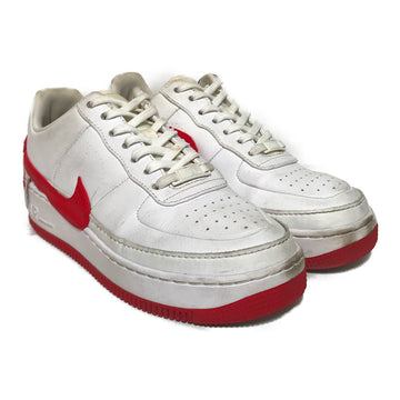 NIKE/WMNS AIR FORCE 1 JESTER/Low-Sneakers/US8/WHT/Leather/Plain