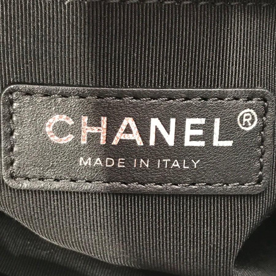 CHANEL//Tote Bag//BLK/Leather/Border