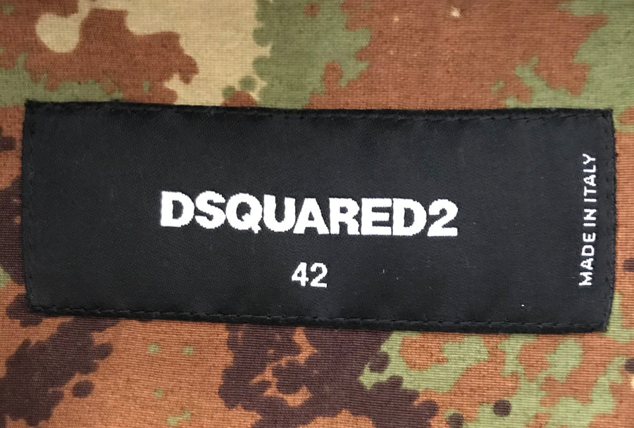 DSQUARED2//Military Jkt/42/MLT/Cotton/Camouflage