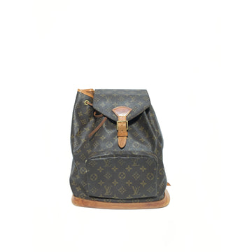 LOUIS VUITTON/./Backpack/BRW/Leather/All Over Print