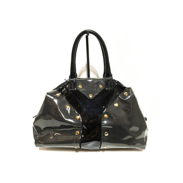 YVES SAINT LAURENT//Hand Bag/BLK/Acrylic/Plain