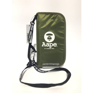 AAPE BY A BATHING APE//Cross Body Bag/BLU/Cotton/Graphic