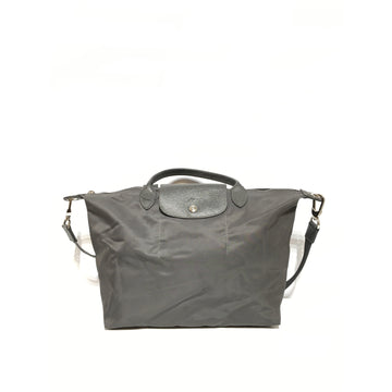 LONGCHAMP//Tote Bag/GRY/Nylon/Plain