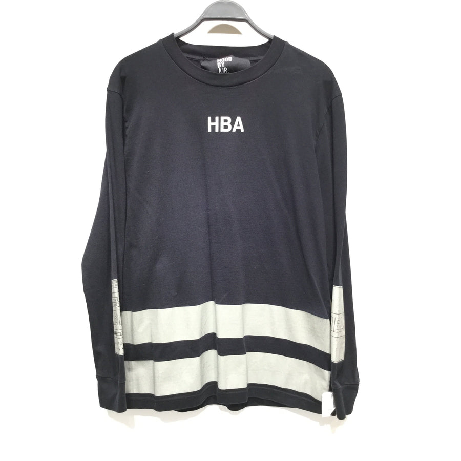 HOOD BY AIR./XL/T-Shirt/BLK/Cotton/Plain