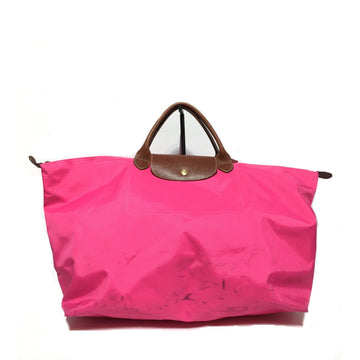 LONGCHAMP//Tote Bag/PNK/Nylon/Plain