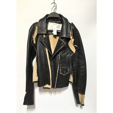 Maison Margiela/2/Leather Jkt/BLK/Leather/Plain