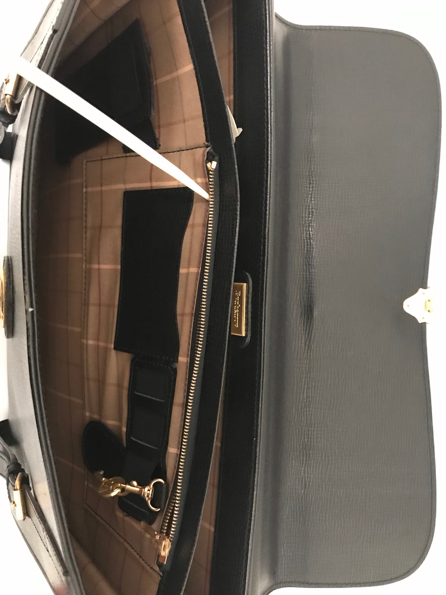 BURBERRYS/Briefcase/Leather/BLK