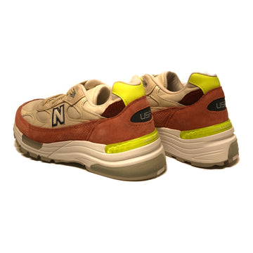 NEW BALANCE//Low-Sneakers/7/WHT/Suede/Plain