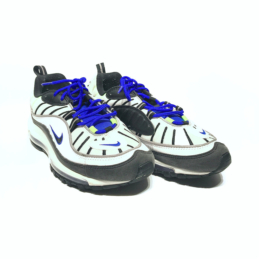 NIKE/AIR MAX 98/Low-Sneakers/9/WHT/Faux Leather/Plain