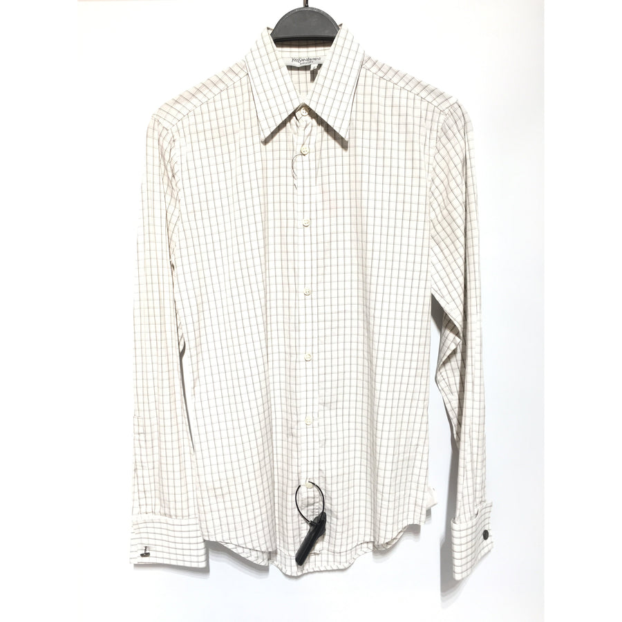 YVES SAINT LAURENT/LS Shirt/38/Cotton/WHT