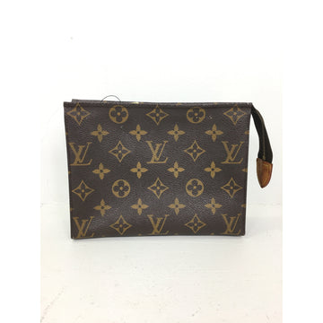 LOUIS VUITTON//Pouch/BRW/Leather/Monogram