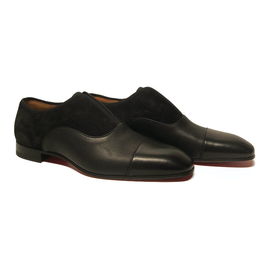 Christian Louboutin//Dress Shoes/EU40/BLK/Leather/Plain