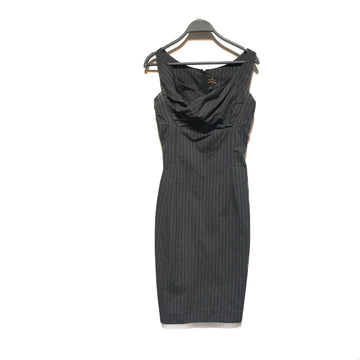 VIVIENNE WESTWOOD//SS Dress/38/GRY/Cotton/Stripe