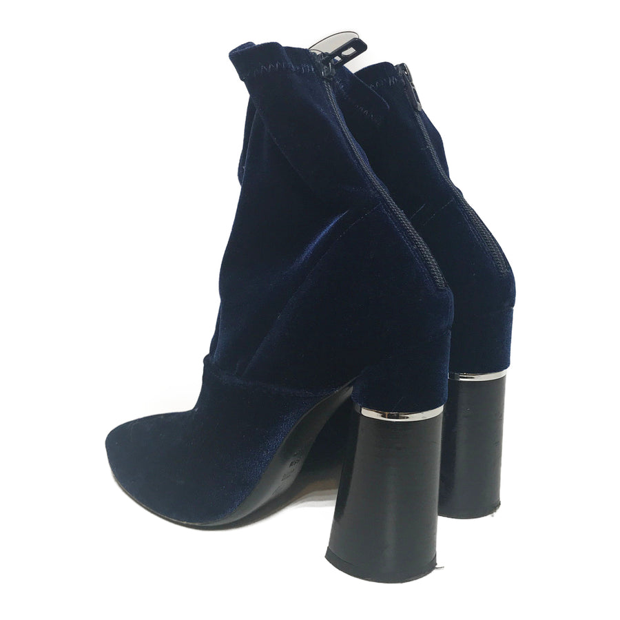 3.1 phillip lim//Ankle Boots/US8/BLK/Velour/Plain